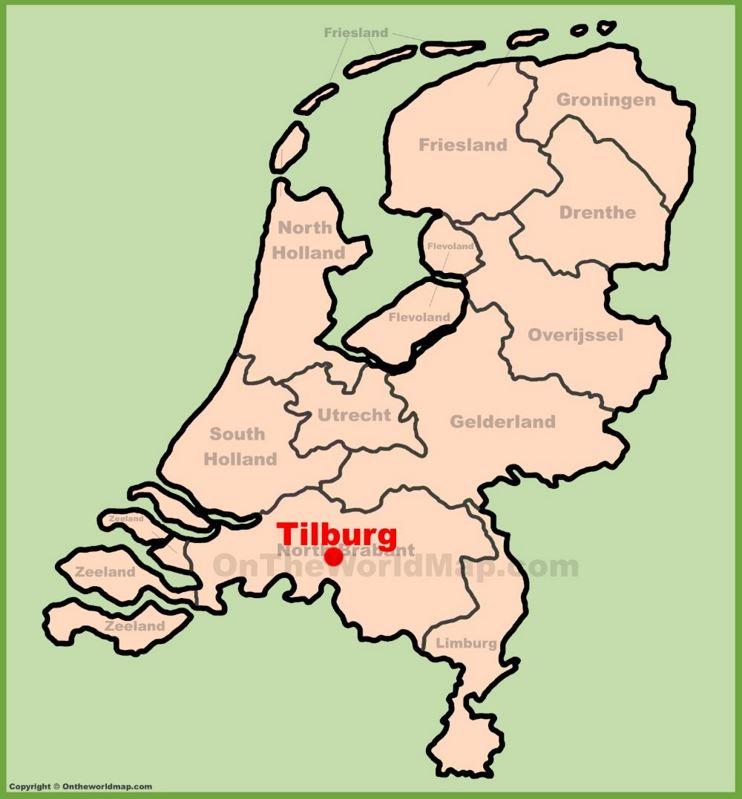 Tilburg location on the Netherlands map