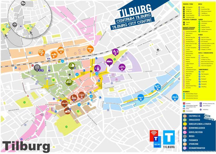 Tilburg Tourist Map