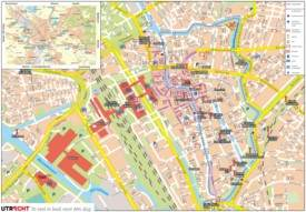 Large detailed tourist map of Utrecht