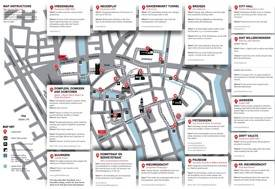 Utrecht city center map