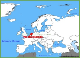 Netherlands location on the Europe map