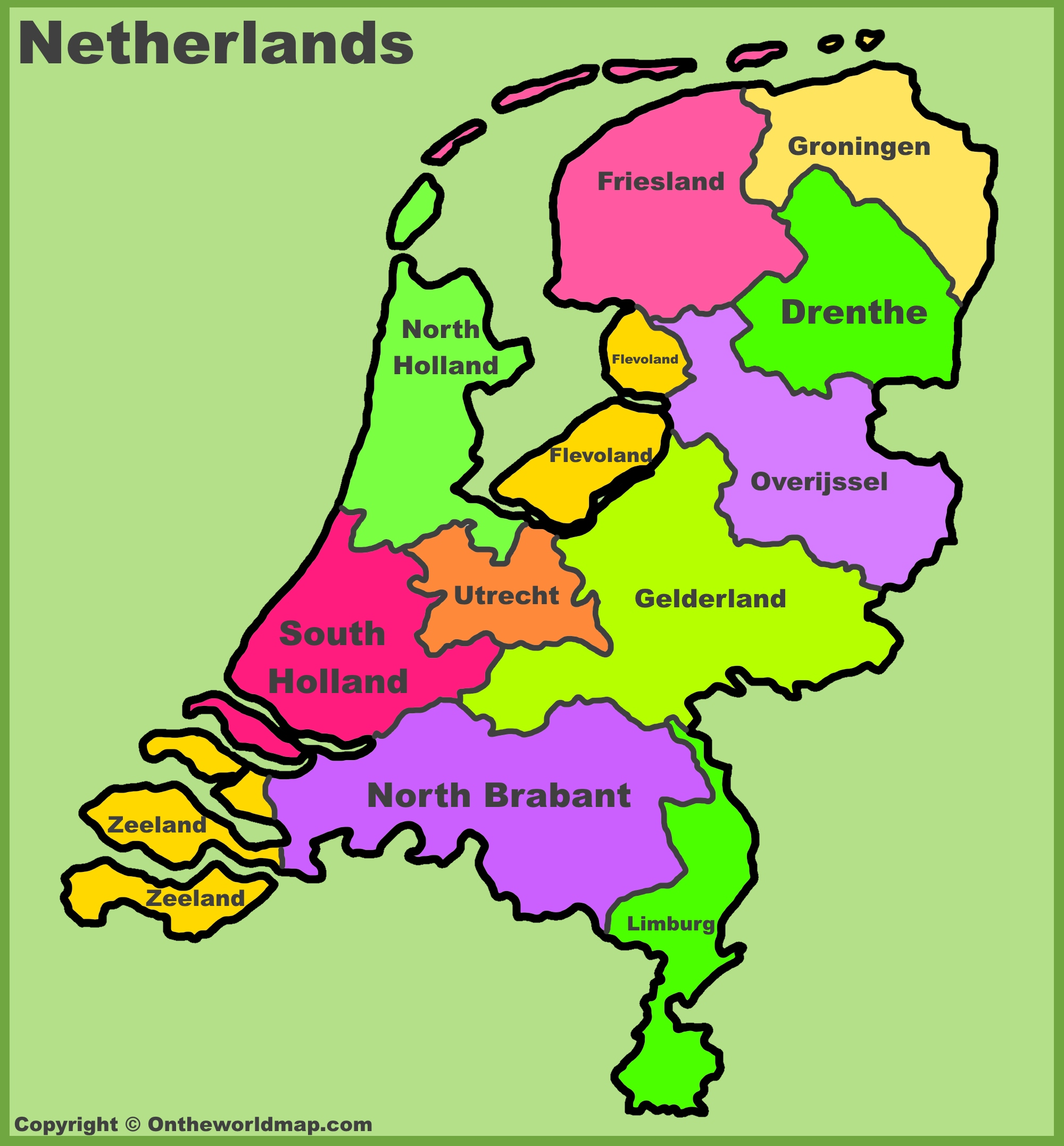 Map Of Cities In Holland  herlands on 12 volt wiring systems