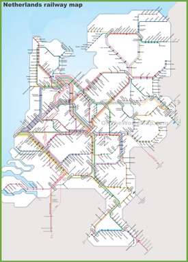 Netherlands railway map