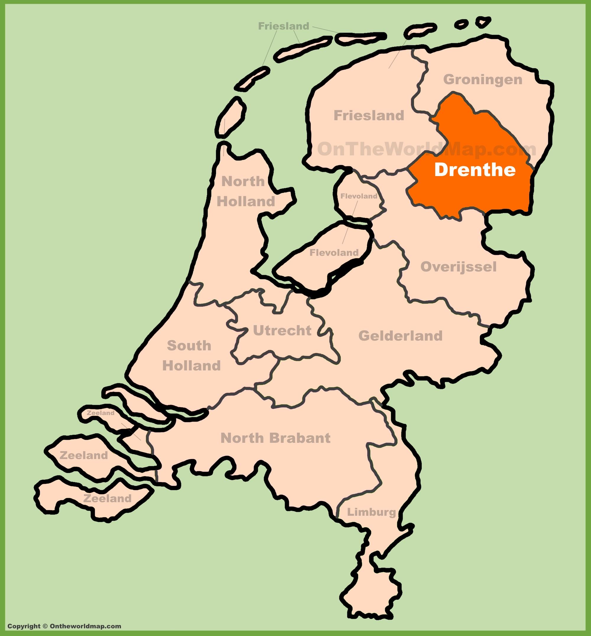 Drenthe Maps Netherlands Maps of Drenthe province