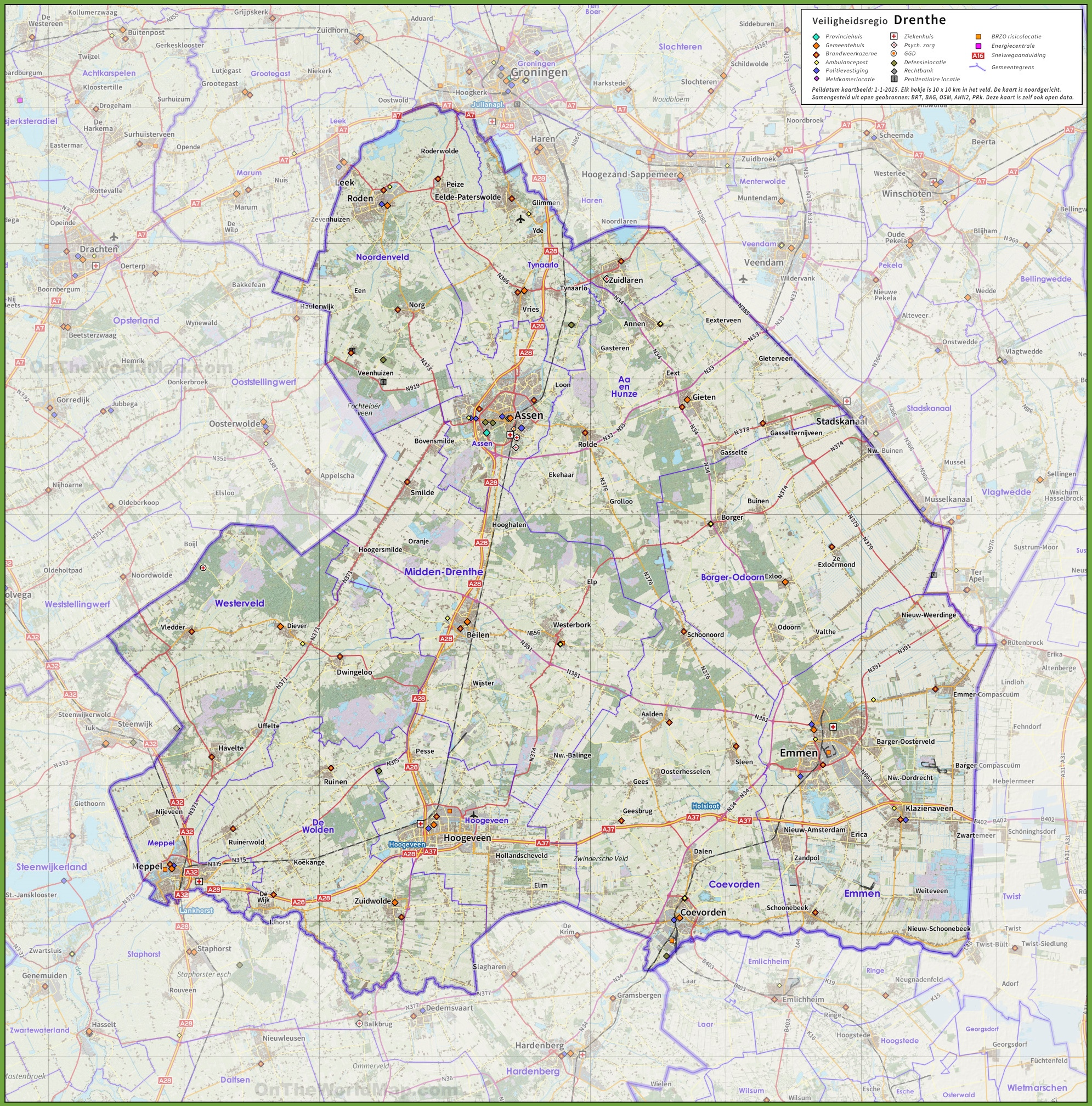 Drenthe road map