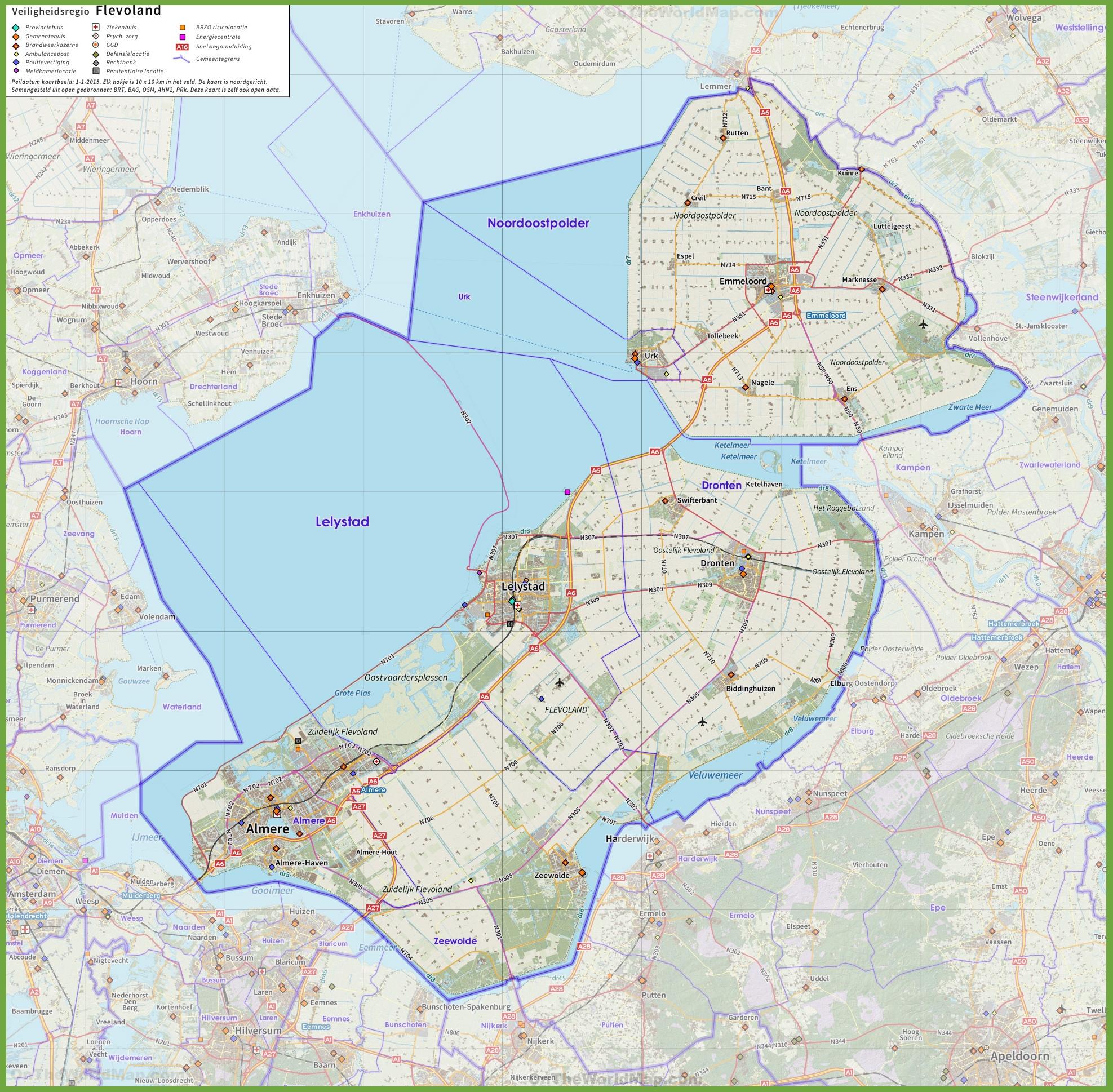 Flevoland road map