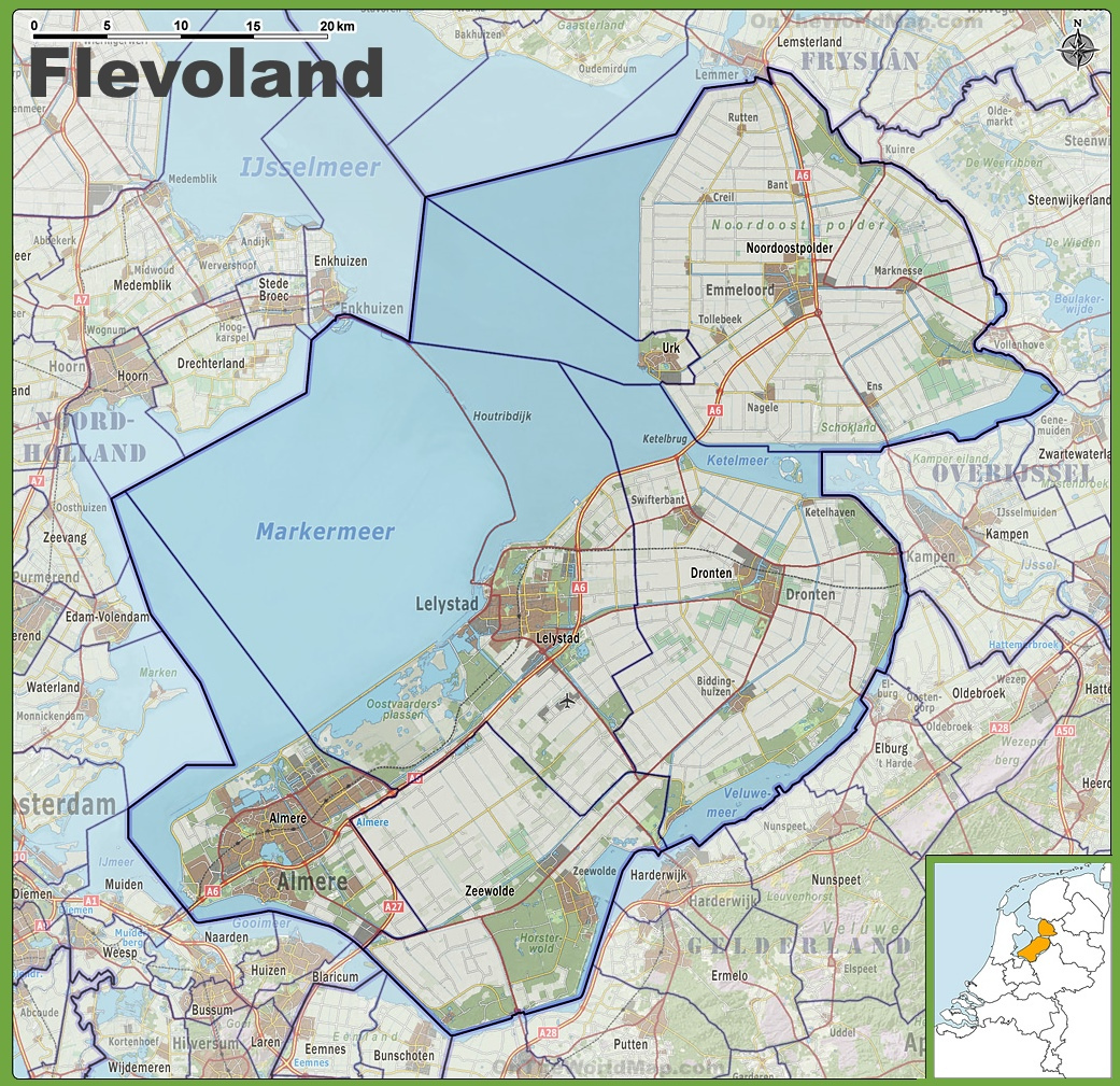 Flevoland Maps Netherlands Maps of Flevoland province