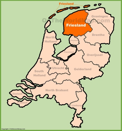 Friesland Location Map