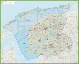 Friesland Maps Netherlands Maps of Friesland province