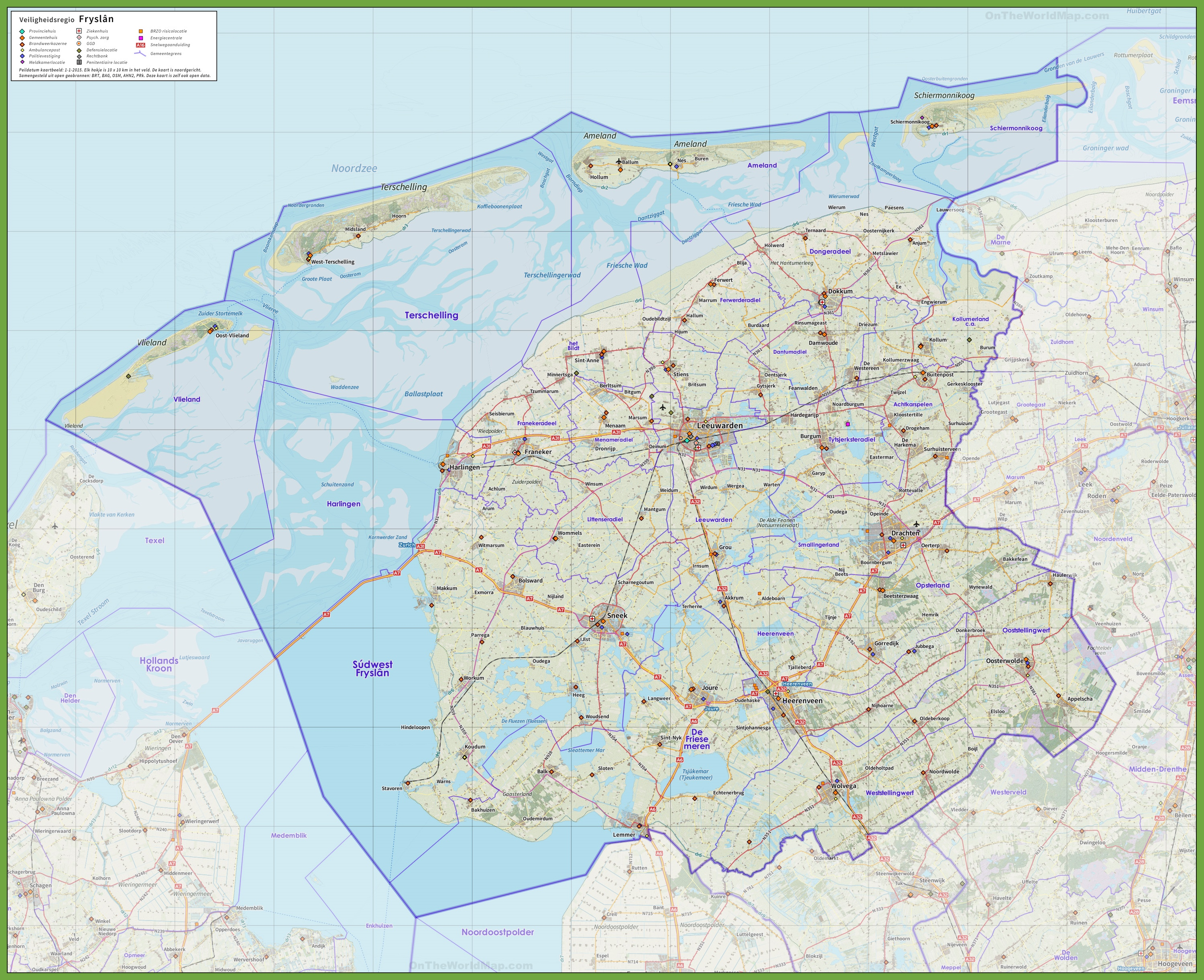 Friesland road map