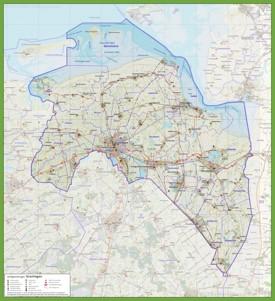Groningen province road map