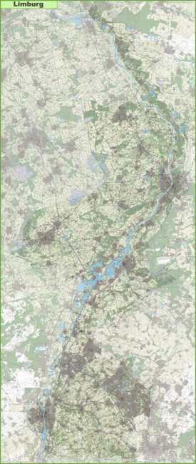 Large detailed topographic map of Limburg