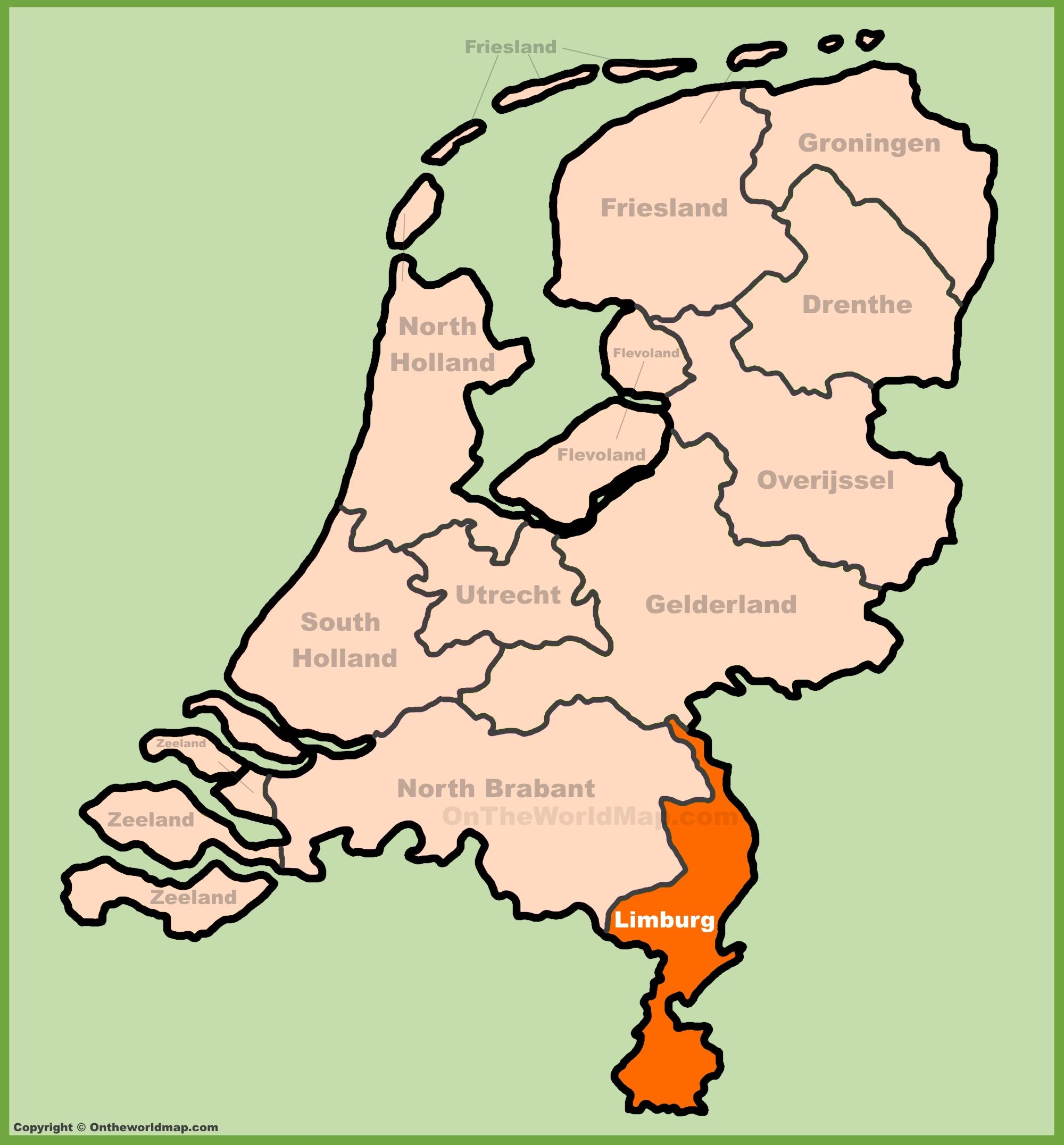 Limburg Maps Netherlands Maps of Limburg province