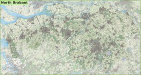Large detailed topographic map of North Brabant