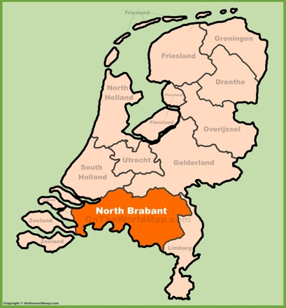 North Brabant Location Map