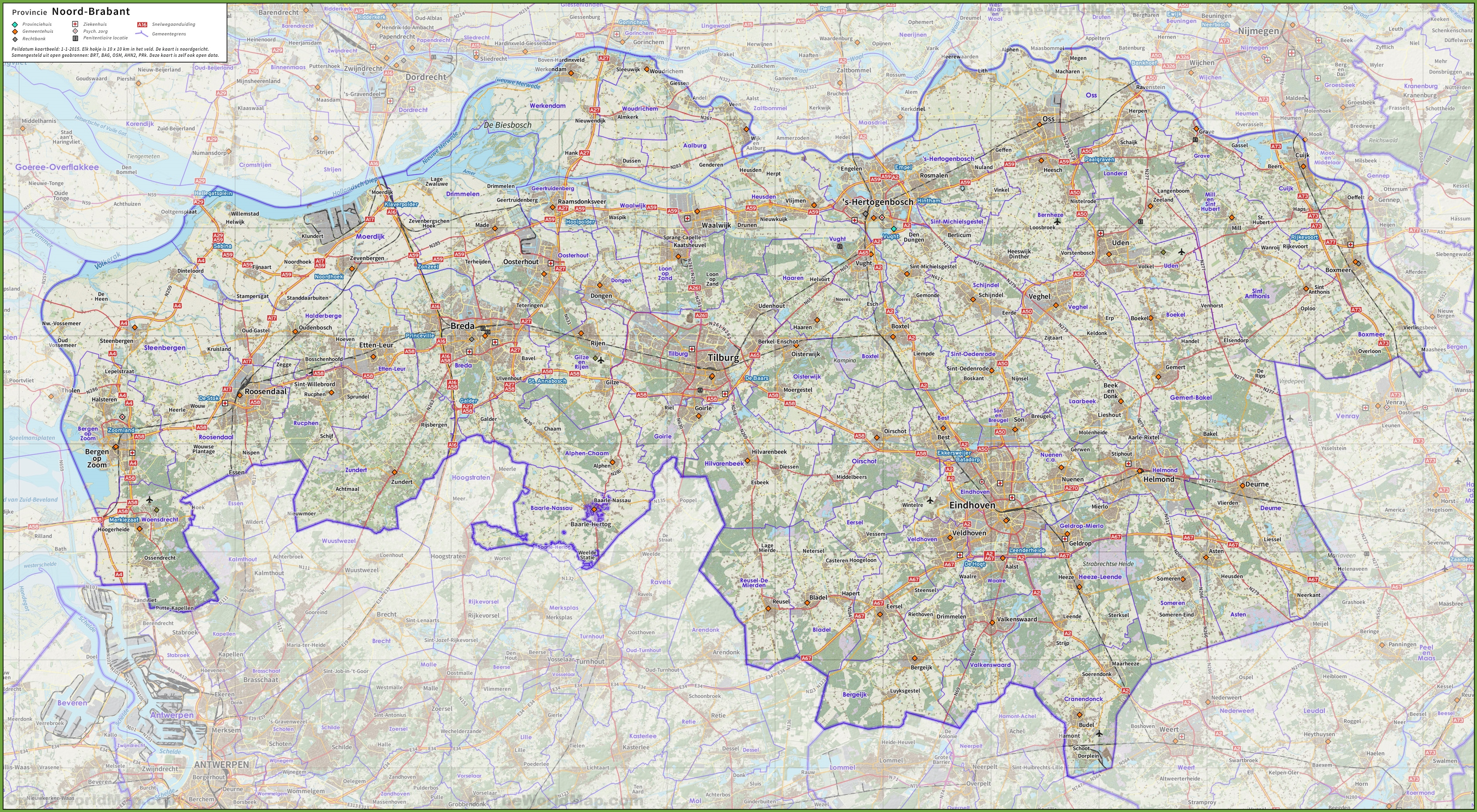 North Brabant road map