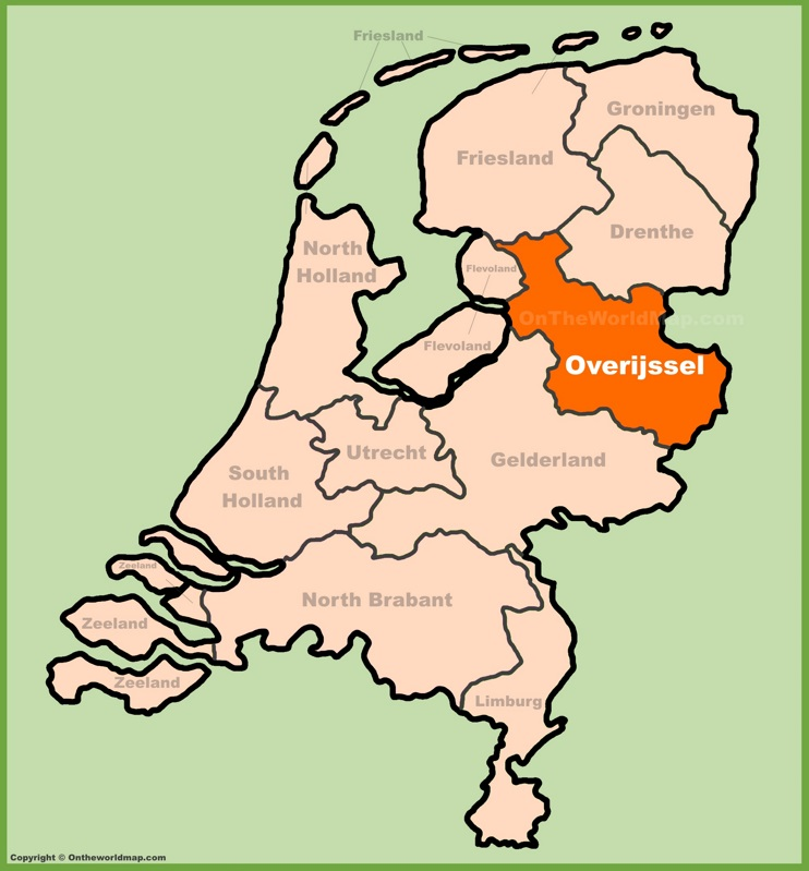 Overijssel location on the Netherlands map