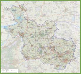 Overijssel road map