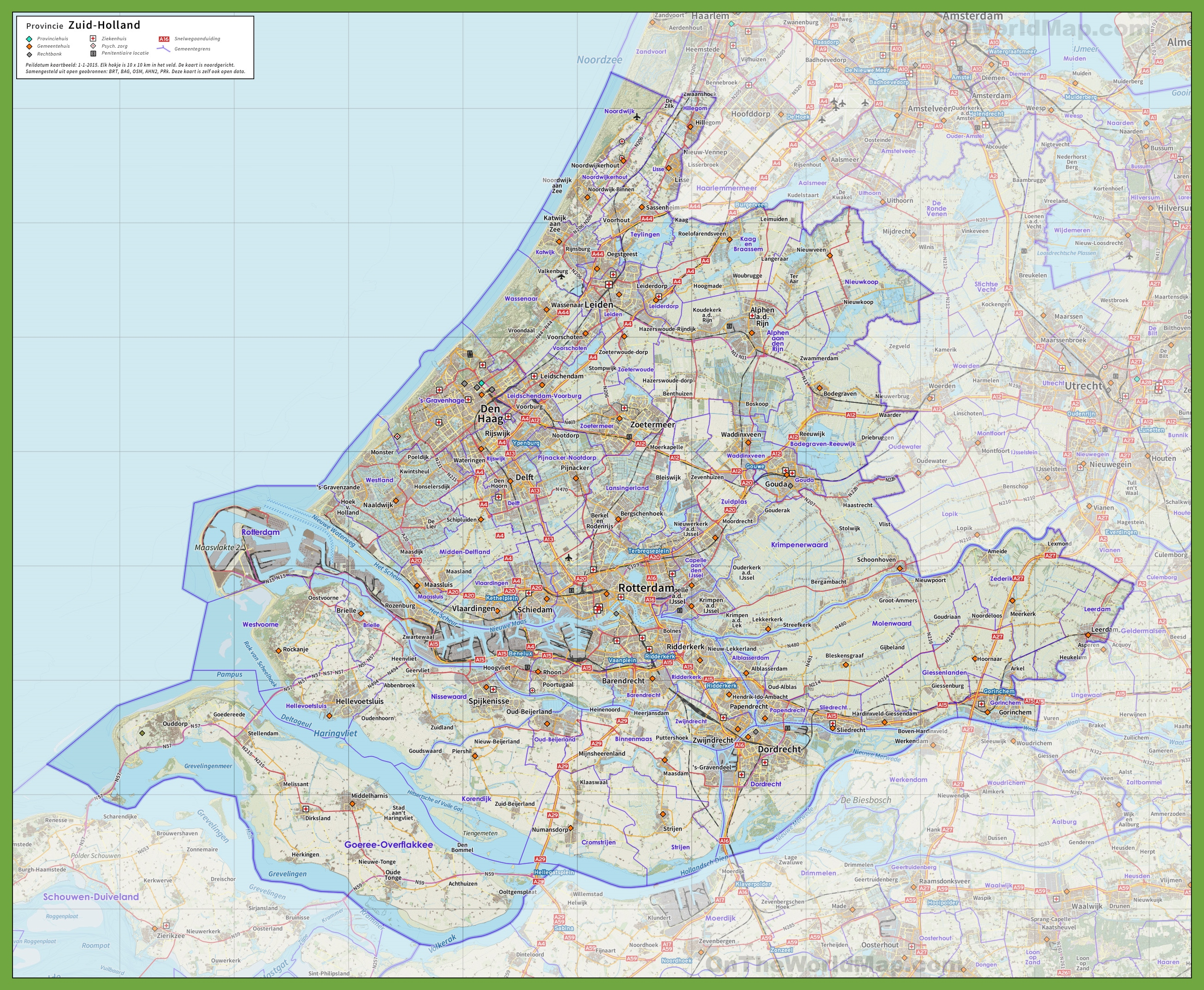 South Holland road map