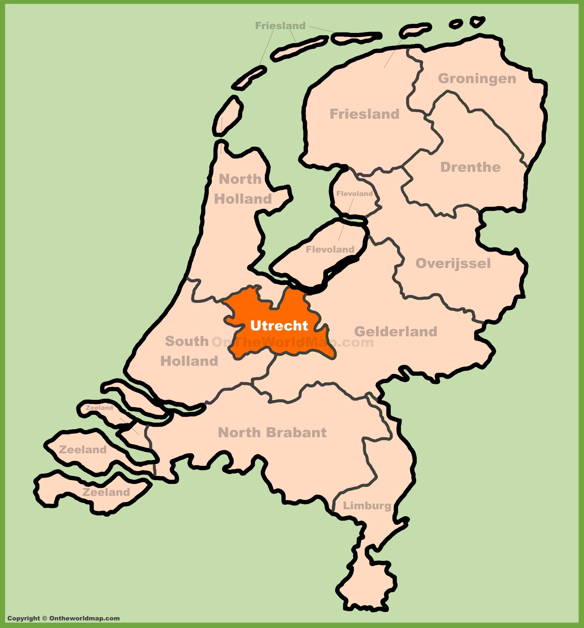 Utrecht province Maps Netherlands Maps of Utrecht province
