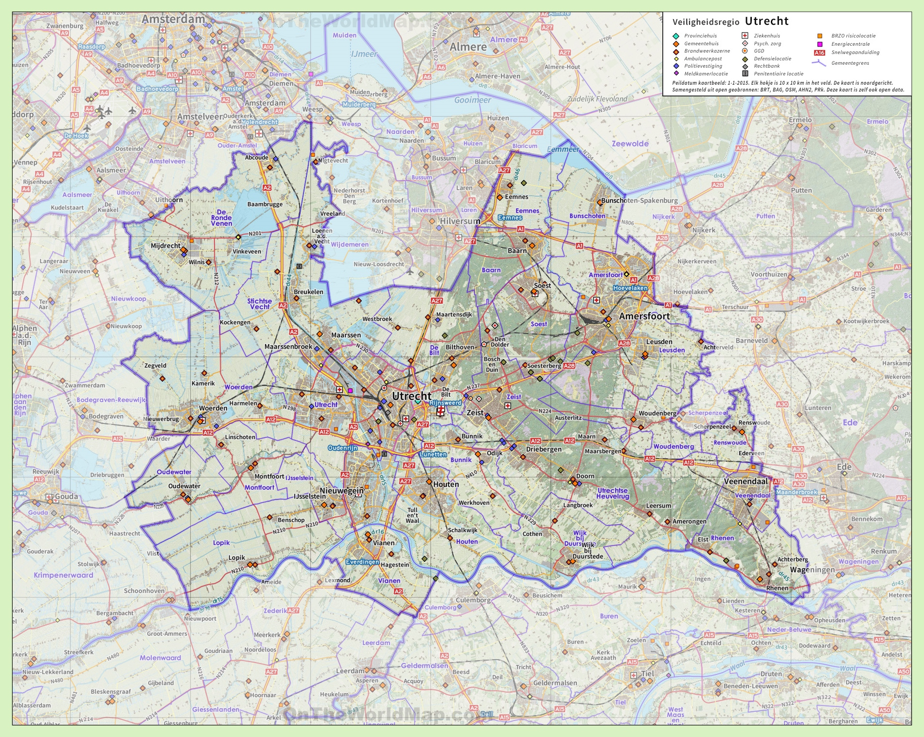 Utrecht province road map