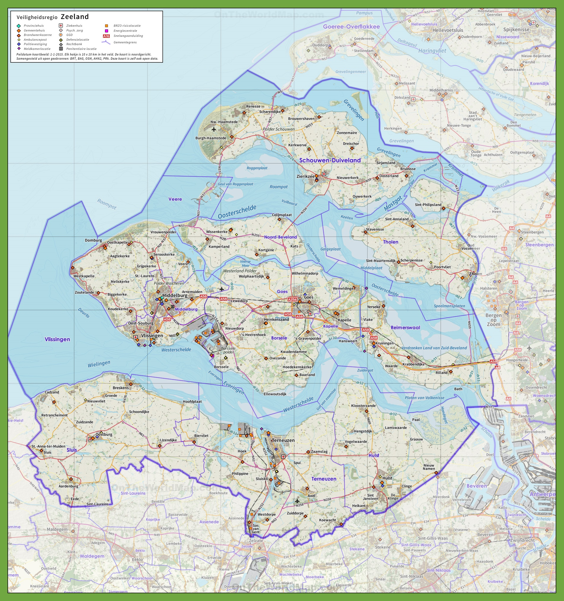 Zeeland road map
