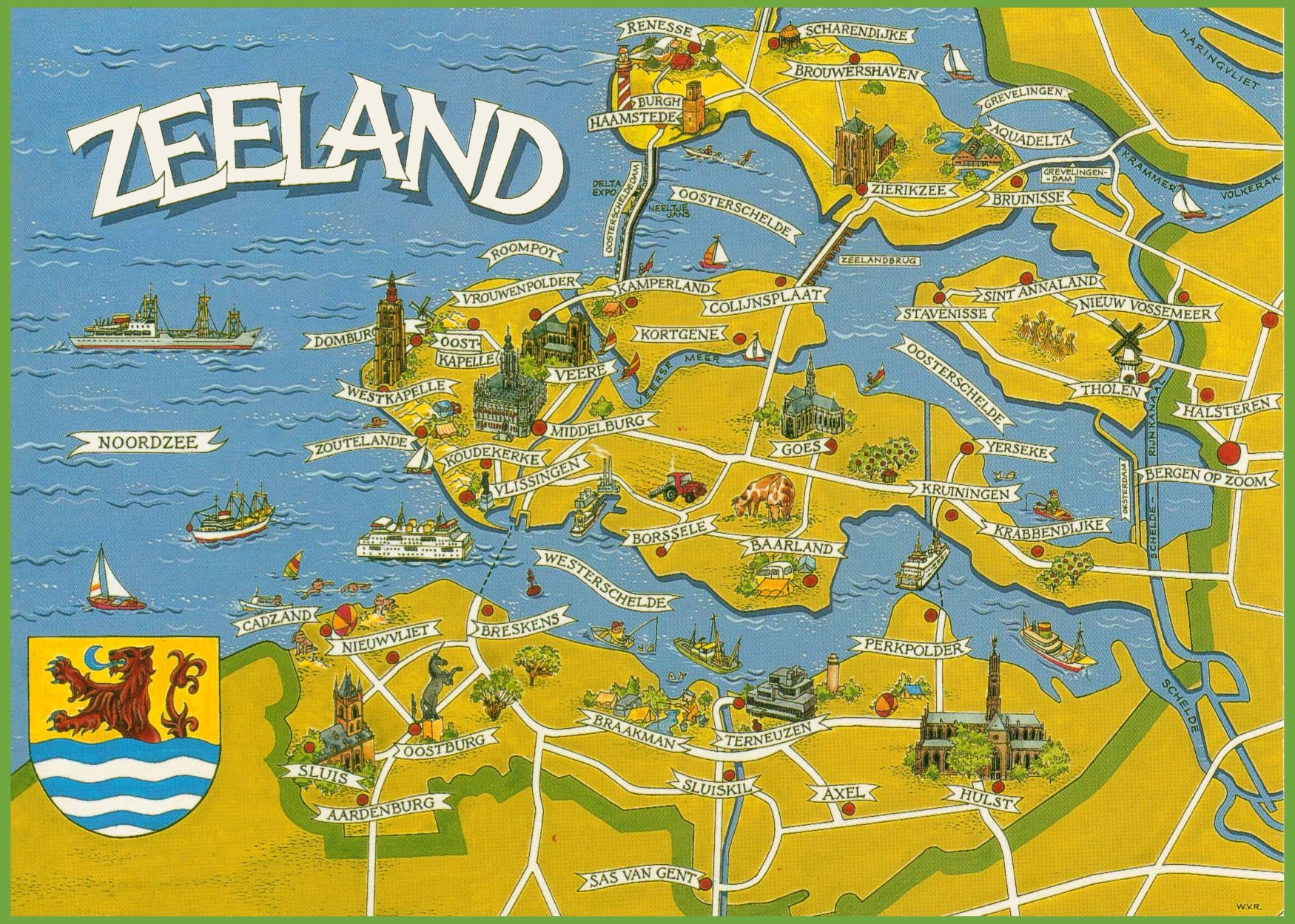 Zeeland tourist map