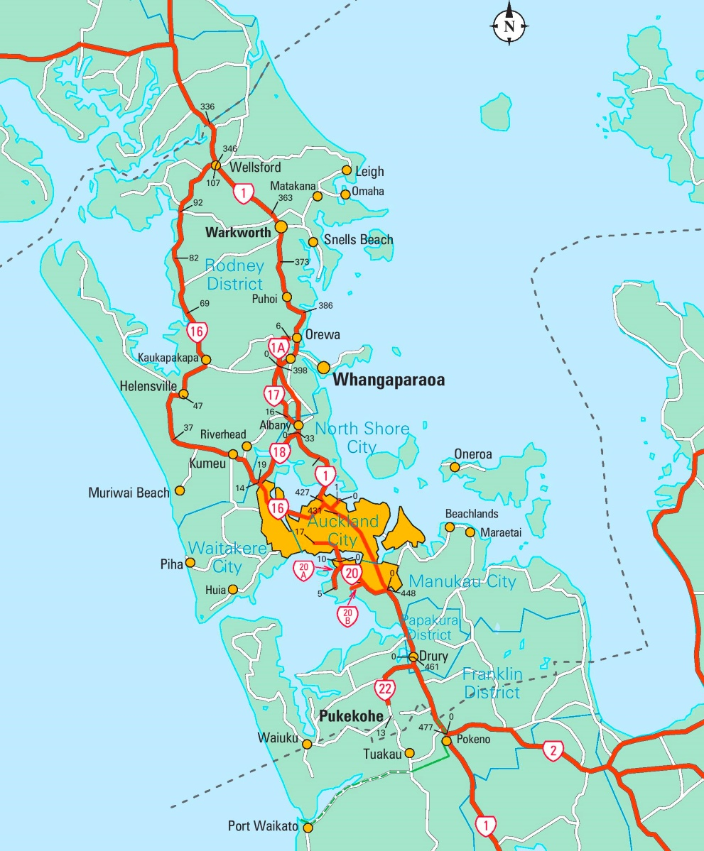 Map Of Auckland Auckland area map