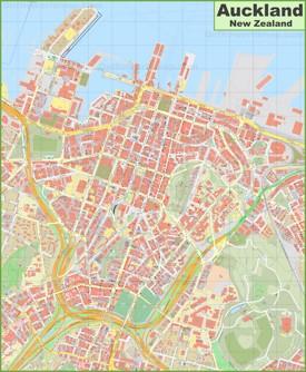 Auckland CBD map