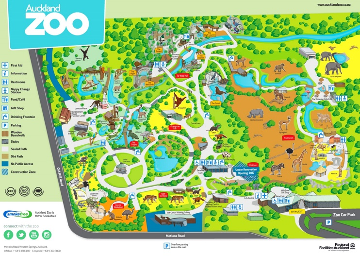 Auckland Zoo map