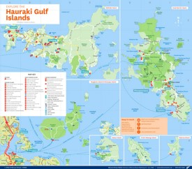 Hauraki Gulf Islands tourist map
