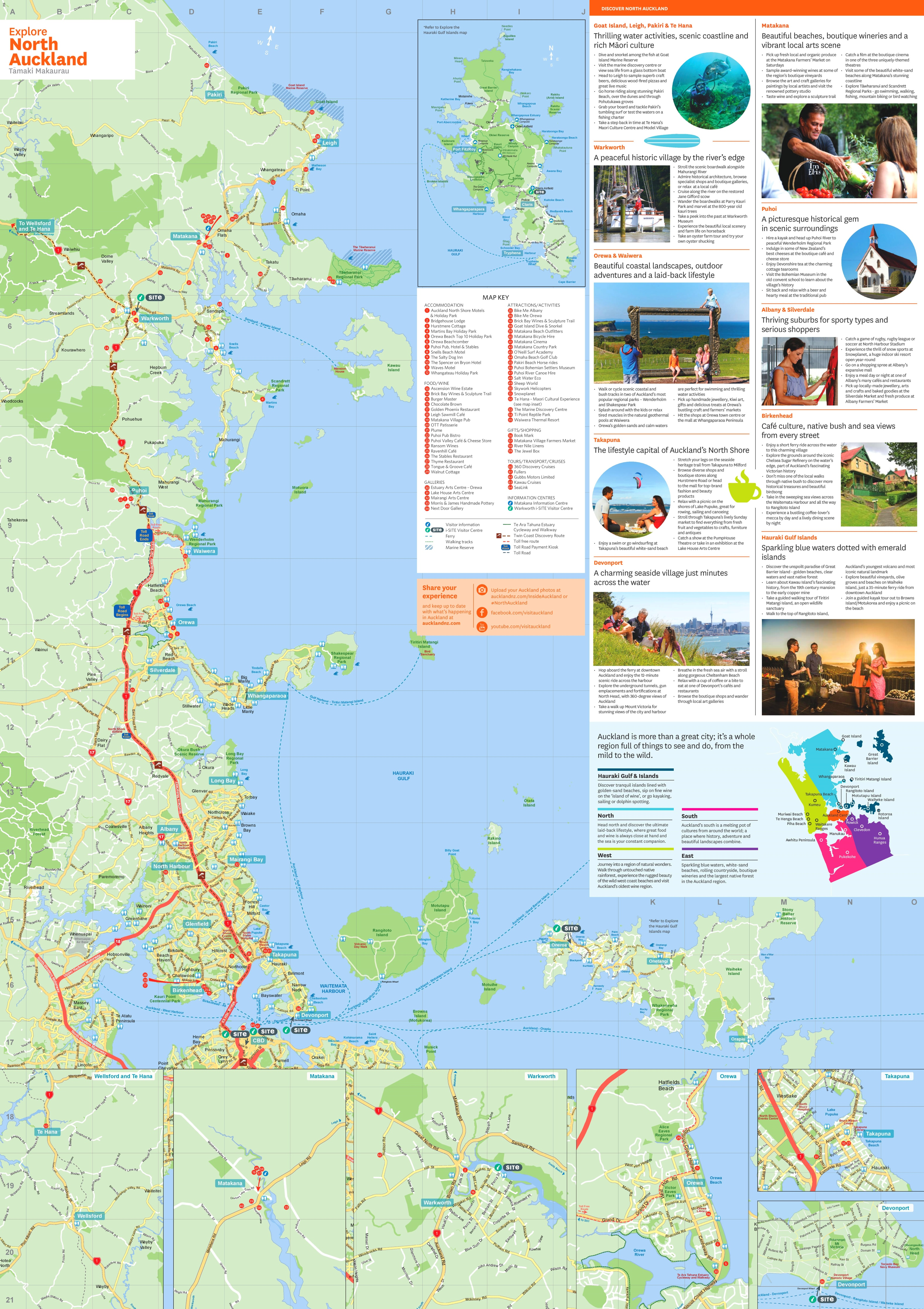 North Auckland tourist map