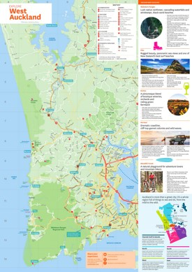 West Auckland tourist map