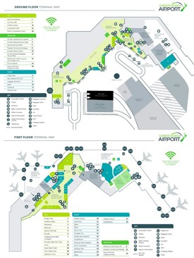 Christchurch airport map