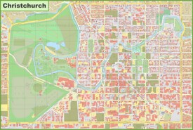 Christchurch CBD map