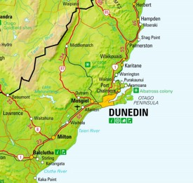 Map Of Dunedin New Zealand.Dunedin Maps New Zealand Maps Of Dunedin