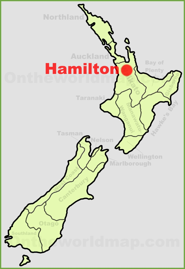 Hamilton New Zealand Map.Hamilton Location On The New Zealand Map