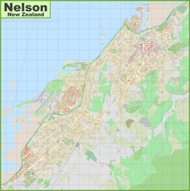 Large detailed map of Nelson