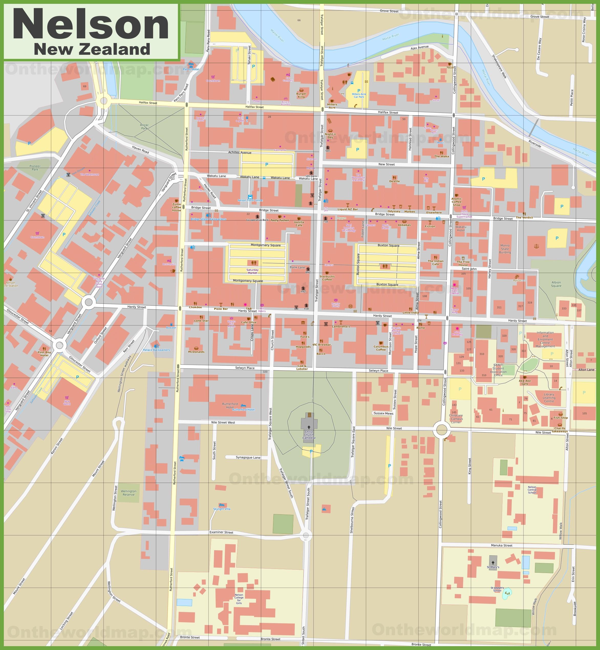 Nelson CBD map