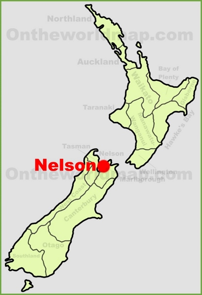 Nelson Location Map
