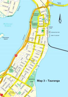 Central Tauranga Map