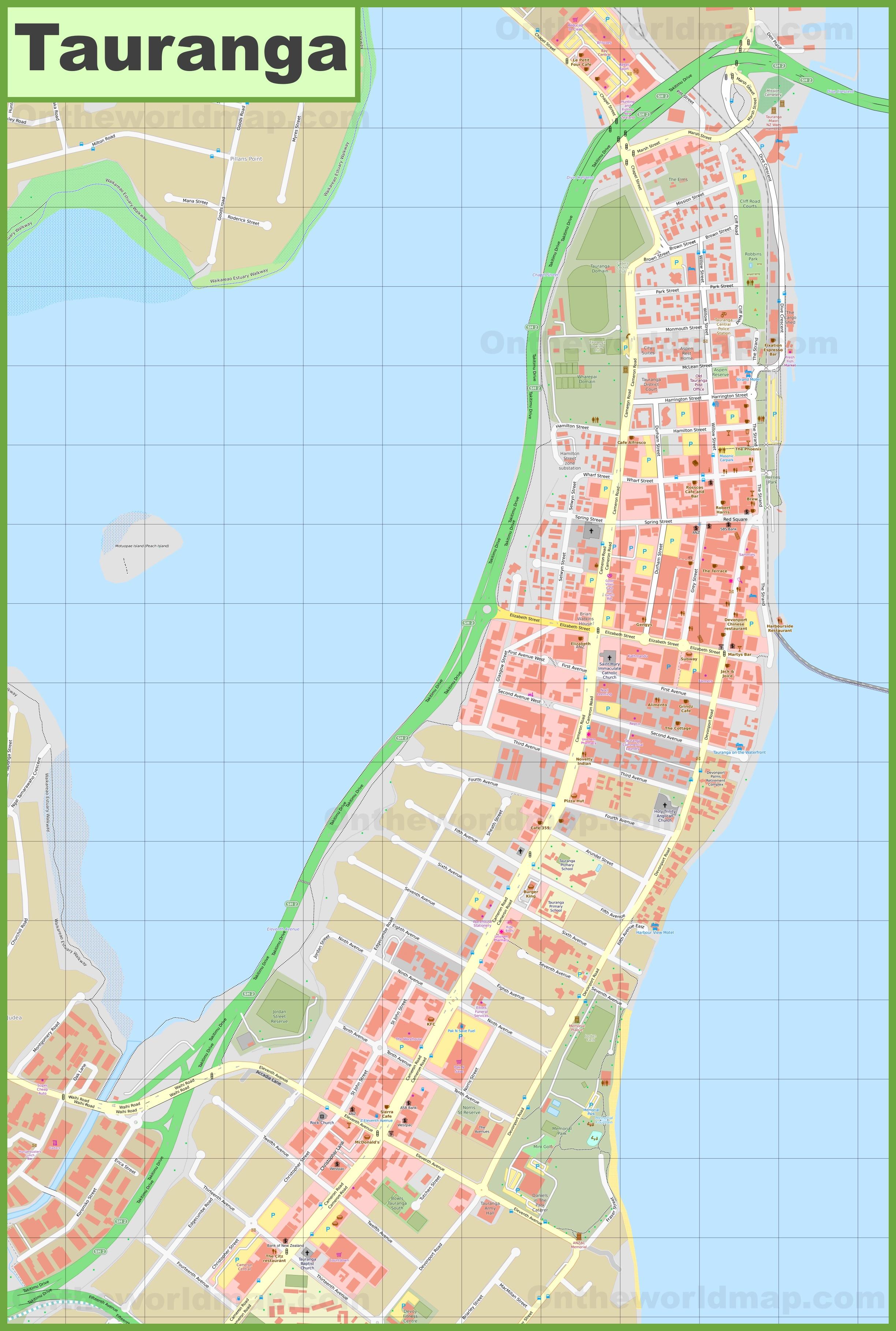 Tauranga Cbd Map