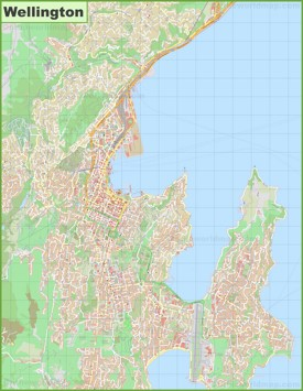 Wellington Maps New Zealand Maps of Wellington