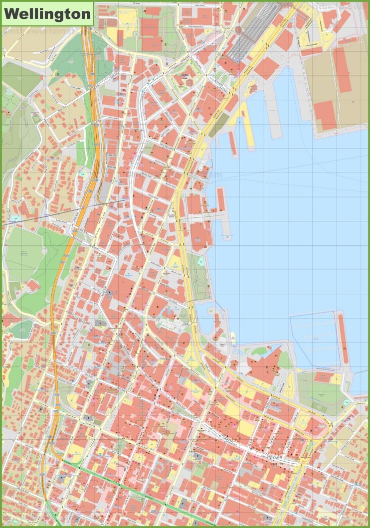 Wellington New Zealand Map.Wellington Cbd Map