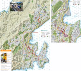 Wellington cycle map