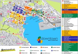 Wellington tourist attractions map