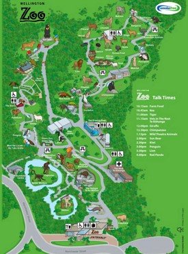 Wellington Zoo map