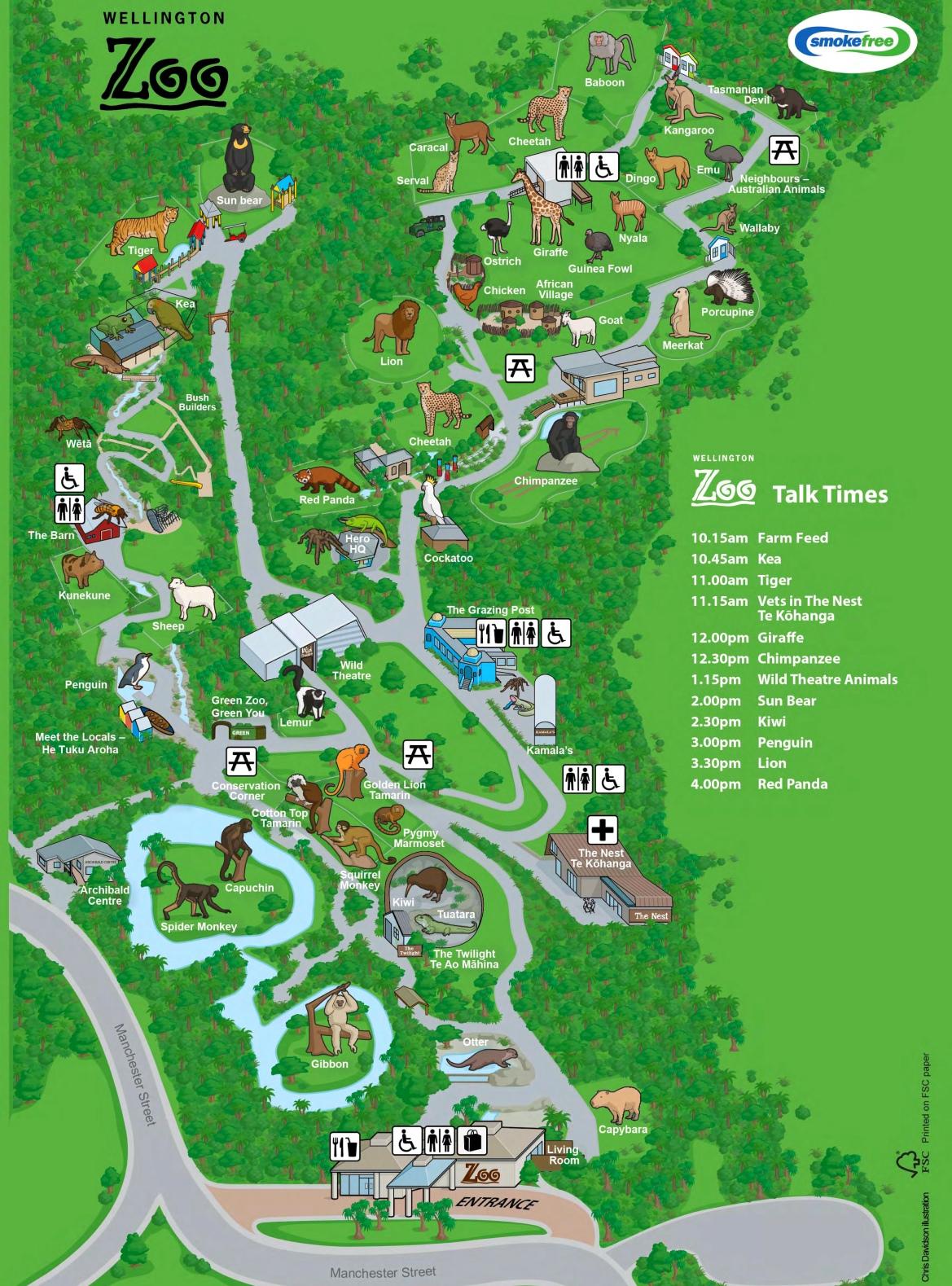 Map Wellington New Zealand.Wellington Zoo Map