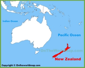 New Zealand location on the Oceania map