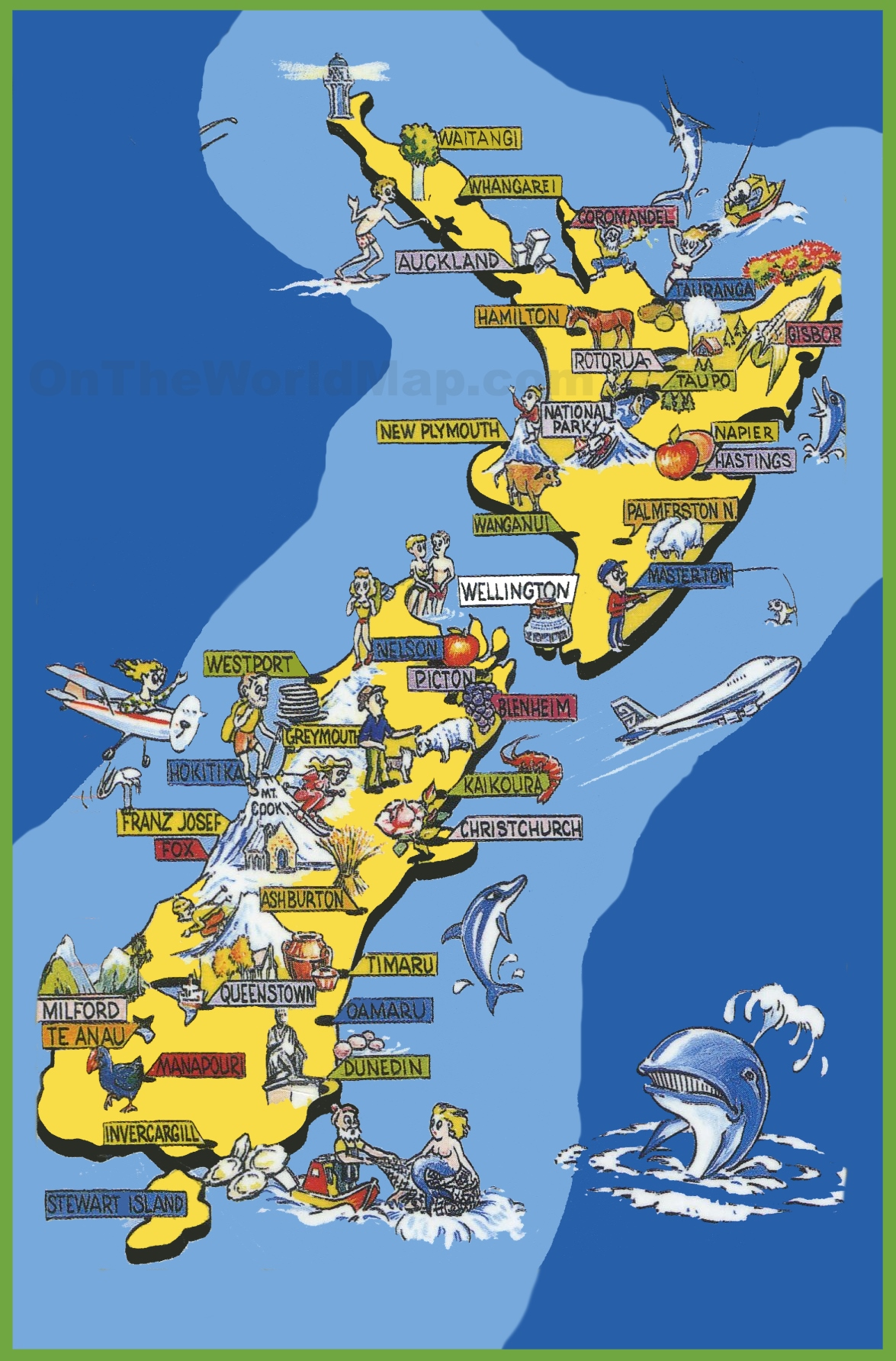 {New Zealand Maps – Tourist Map of New Zealand